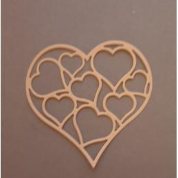 Serca w sercu 8cm