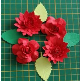Kwiaty z papieru zestaw A23