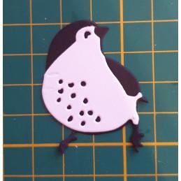 Ptaszek biało czarny...